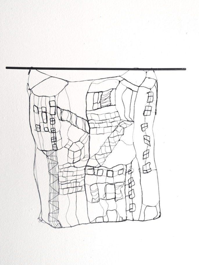 Urban Landscape - L 20 : II. 25 x 20 cm | Textile, wood | 145€