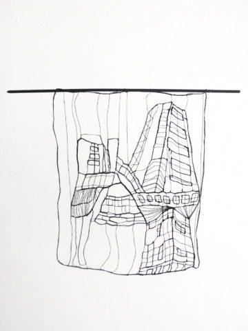 Urban Landscape - L 20 : I. 25 x 20 cm | Textile, wood | 145€