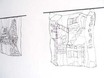 Urban Landscape - L 20 : I, II 23 x 20 cm   Textile, wood   145 €