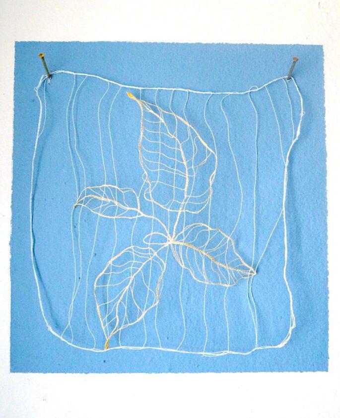 Curtains down - Epiloque II 19 x 18 cm   Textile   70 €