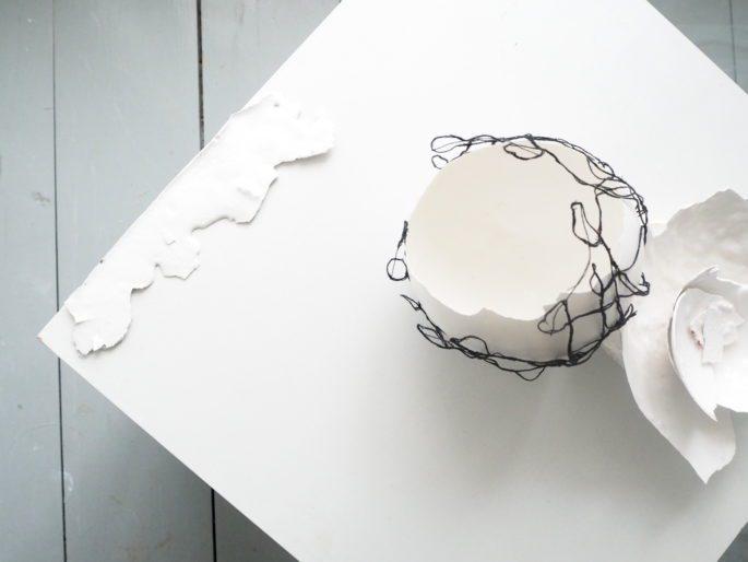 Préoccupations | 13 x 13 x 11 cm | Textile, plaster | 220 €